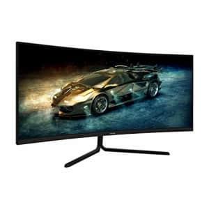 VIOTEK GNV34DB 34-Inch Ultrawide Gaming Monitor, Curved 1500R UWQHD VA Panel | 100Hz 1440p Monitor for $788