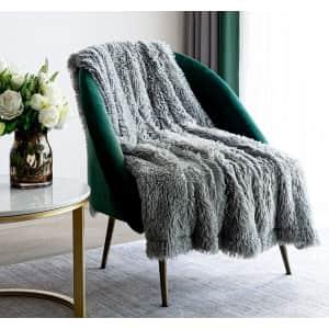 Xyyzyz Faux Fur Throw Blanket from $8
