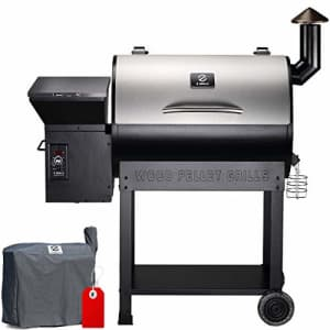 Z GRILLS ZPG-7002E 2020 Upgrade Wood Pellet Grill & Smoker, 8 in 1 BBQ Grill Auto Temperature for $447