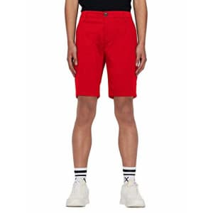A|X Armani Exchange Men's Classic Bermuda Shorts, Absolute Red, 31 for $40