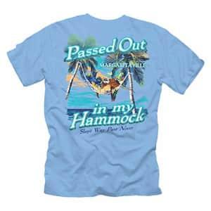 Margaritaville Cargo Margaritaville Men's Passed Out Hammock Graphic Short Sleeve T-Shirt, Carolina Blue, Small for $27