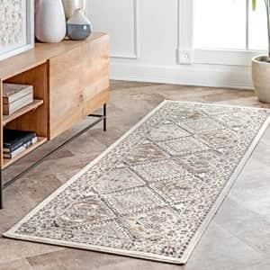 """nuLOOM Becca Vintage Tile Area Rug, 2' 6"""" x 6', Beige for $50"""