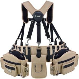 Jackson Palmer Professional Comfort-Rig Tool Belt w/ Suspenders for $40