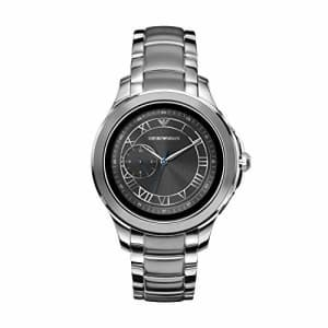 Emporio Armani Men's Stainless Steel Touchscreen Smartwatch, Color: Silver-Toned (Model: ART5010) for $230
