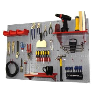 Pegboard Organizer Wall Control 4 ft. Metal Pegboard Standard Tool Storage Kit with Gray Toolboard for $140
