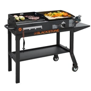 Blackstone Duo Gas Griddle & Charcoal Grill Combo for $154