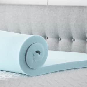 Lucid Comfort Collection Gel- and Aloe-Infused Memory Foam Mattress Topper from $36 + buy more, save more