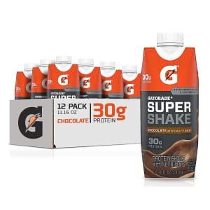 Gatorade Super Shake 11.16-oz. Protein Drink 12-Pack for $13 w/ Prime