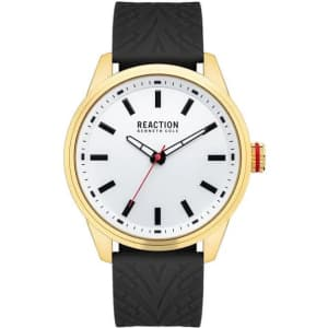 Kenneth Cole Men's Reaction 45mm Silicone Watch for $22