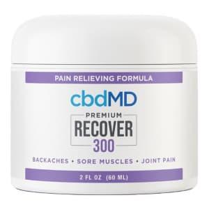 cbdMD 300mg CBD Recover Cream 2-Oz. Jar for $30