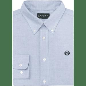 Lauren Ralph Lauren Boys' Solid Dress Shirt for $16