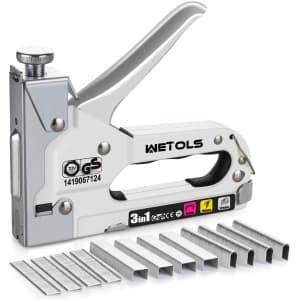Wetols 3-in-1 Heavy-Duty Staple Gun for $17