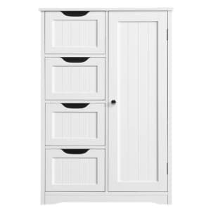Yaheetech 4-Drawer Bathroom Cabinet for $114