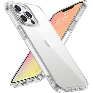 WRJ Crystal Clear Phone Case for iPhone 13 Pro Max for $3
