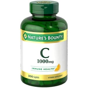 Nature's Bounty Pure Vitamin C Caplets 1000 Mg, White, 300 Count for $21