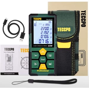 Teccpo Electronic Laser Distance Meter for $37