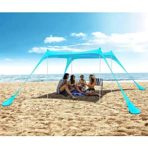 CoolGuy 10 x 10-foot Beach Sun Shelter for $58
