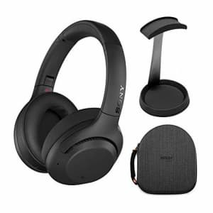 Sony WH-XB900N Extra BASS Wireless Noise Cancelling Headphones (Black) with Hardshell Headphone for $248