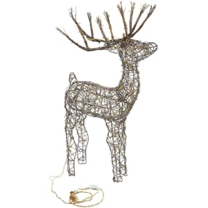 Alpine Rattan Lighted Reindeer for $55