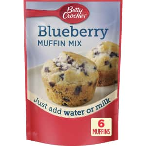 Betty Crocker Blueberry Muffin Mix 6.5-oz. Package 9-Pack for $9