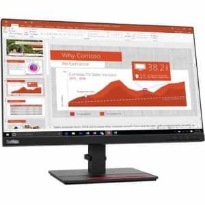 """Lenovo ThinkVision T24i-20 23.8"""" Full HD WLED LCD Monitor - 16:9 - Raven Black for $218"""