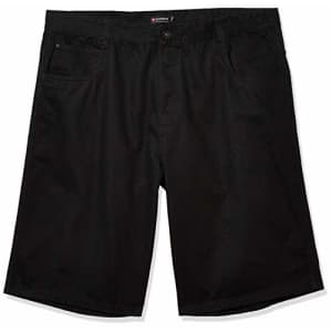 Southpole Men's Big and Tall Regular Fit Shorts (YM/BT), Jet Black, 48 for $20