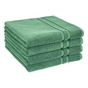 Amazon Basics GOTS Certified Organic Cotton Bath Towel - 4-Pack, Malachite Green for $40