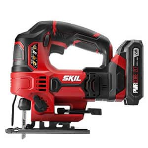Skil 20V 7/8 Inch Stroke Length Jigsaw, Includes 2.0Ah PWRCore 20 Lithium Battery and Charger - for $90