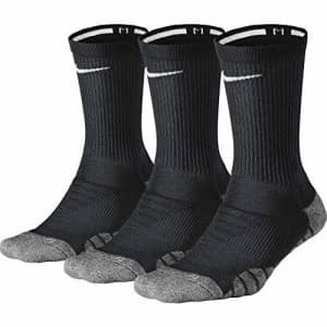 Nike Women's Everyday Max Cushion Training Crew Sock (3 Pair), Nike Socks with Cushioned Comfort & for $33