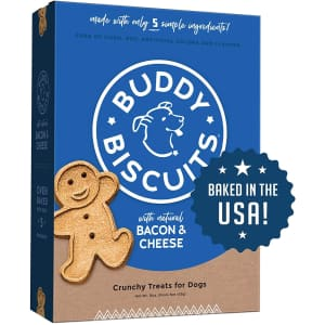 Buddy Biscuits 3.5-lb. Oven Baked Healthy Dog Treats for $1.27 via Sub. & Save