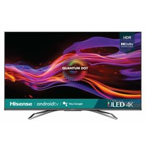 "Hisense U8 Series 65U8G 65"" 4K HDR ULED UHD Android Smart TV (2021) for $1,000"