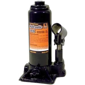 Black Bull 4-Ton Hydraulic Bottle Jack for $15
