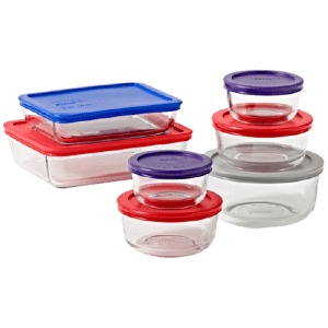 Pyrex Simply Store 14-Piece Glass Food Storage Set for $20