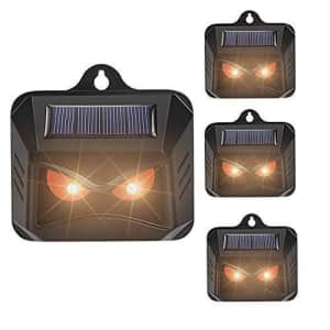 Solar-Powered Nocturnal Animals Repeller 4-Pack for $40