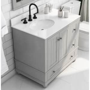 "Dorel Living Monteray Beach 36"" Bathroom Vanity w/ Composite Granite Top for $551 for members"