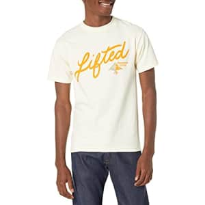 LRG Lifted Research Group Men's Graphic Design Logo T-Shirt, Cream, S for $19