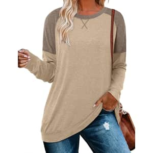 Crazy Grid Women's Color Blocked T-Shirt for $13