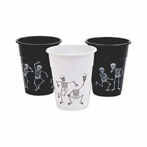 Fun Express Skeleton Printed Disposable Cups (16 oz - 50 cups) Halloween Party Supplies for $20