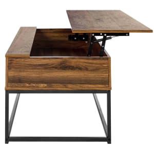 "FurnitureR Kravets 39"" Lift-Top Storage Coffee Table for $142"