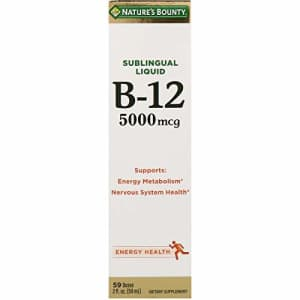 Nature's Bounty, Super Strength B-12, 5000mcg, 2 Oz(Pack of 2) for $24