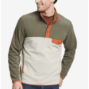 Eddie Bauer Men's Chutes Snap Mock Pullover for $17