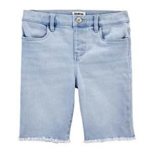 OshKosh B'Gosh Osh Kosh Girls' Cut Off Shorts, Wind Wash, 4 for $12