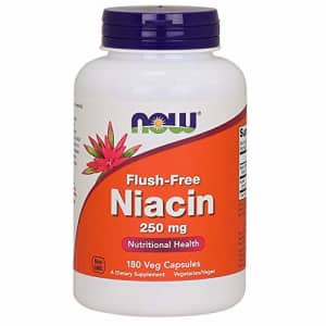 Now Foods NOW Supplements, Niacin (Vitamin B-3) 250 mg, Flush-Free, Nutritional Health, 180 Veg Capsules for $32