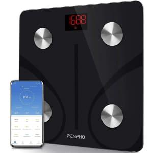 Renpho Smart Bluetooth Bathroom Scale for $17
