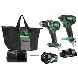 Metabo HPT Cordless Hammer Drill and Impact Driver Combo Kit, 18V, Brushless, Includes Two for $300