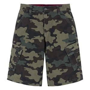 Levi's Boys' Cargo Shorts, Cypress Camo, 7XL for $24