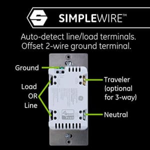 GE Enbrighten Z-Wave Plus Smart Switch with QuickFit and SimpleWire, In-Wall Commercial Grade for $27
