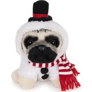 Gund Doug The Pug Snowman Holiday Plush Stuffed Animal Dog for $6