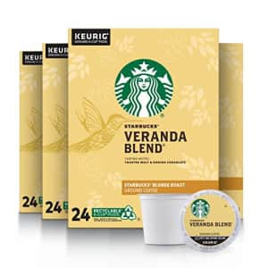 Starbucks Veranda Blend Coffee K-Cup Pods | Blonde Roast | Coffee Pods for Keurig Brewers | 4 Boxes for $49