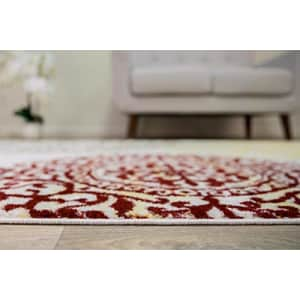 """Rugshop Contemporary Modern Floral Cream 5'3"""" x 7'3"""" Indoor Soft Area Rug for $84"""